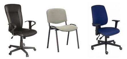 Кресла для персонала, руководителя и посетителя