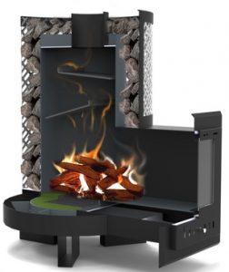 , Современная дровяная печь для бани и сауны